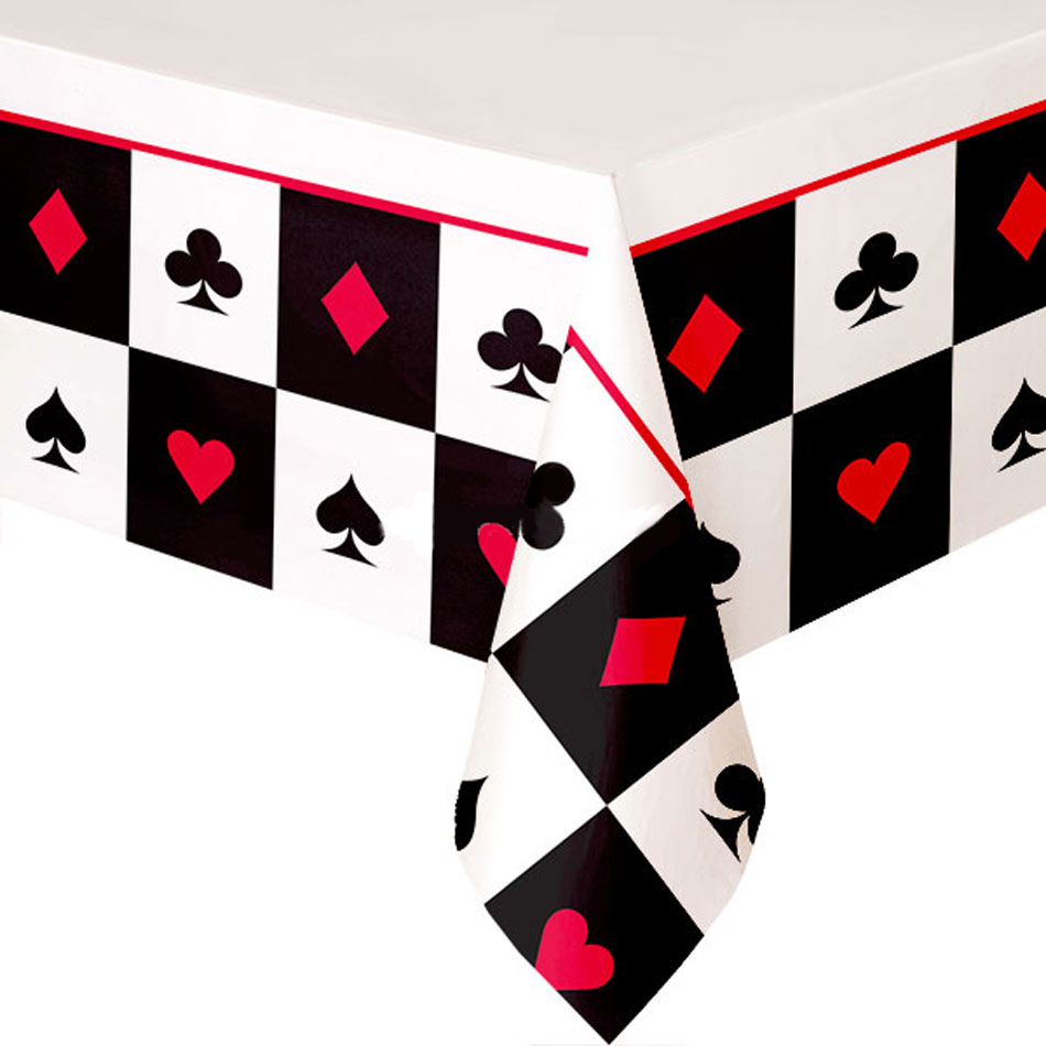 """Place Your Bets Plastic Table Cover, 54"""" x 102"""""""