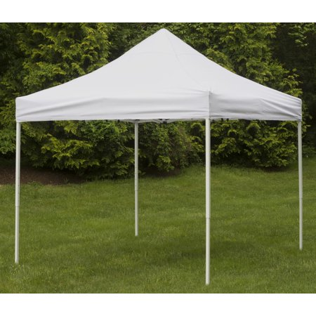 Displays2go Event Canopy with Popup Design, Wheeled Carry Bag, Adjustable Steel –