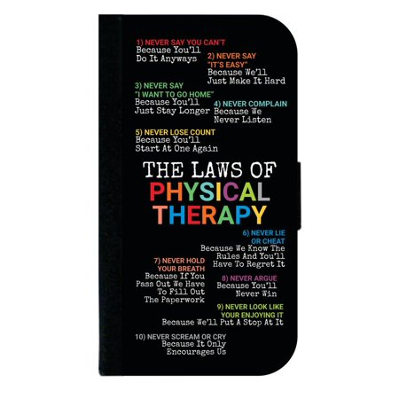 Laws of Physical Therapy Novelty - Passport Cover / Card Holder for Travel