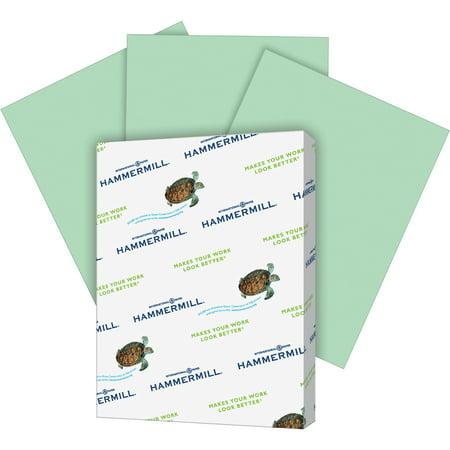 Hammermill Paper, Colors Green, 20lb, 8.5x11, Letter, 500 Sheets. (Green Copy Paper)