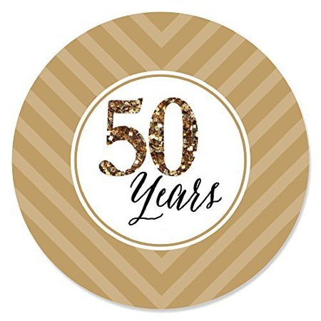 We Still Do - 50th Wedding Anniversary - Party Circle Sticker Labels - 24 Count - 50th Wedding Anniversary Games