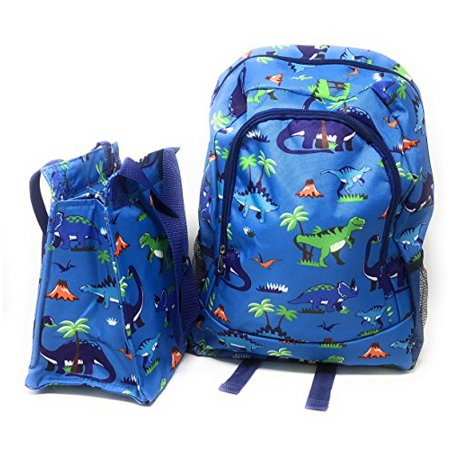 9a4b0e8e6d67 Kids Full Size Backpack with Side Mesh Pockets and Insulated Lunch Bag Box  Carrier (Dinosaur) … - Walmart.com