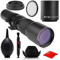 super 500mm/1000mm f/8 manual telephoto lens for nikon d5, d4s, df, d4, d850, d810, d800, d850, d750, d700, d610, d500, d300, d90, d7200, d7500, d7100, d5600, d5500, d5300, d5200, d3400, d3300, d3200