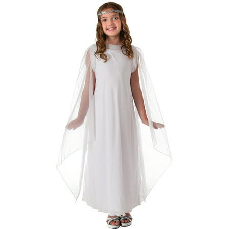 Lord Of The Ring Costumes (Child Kids Girls Lord of the Rings Hobbit Galadriel Angel Princess Elf)