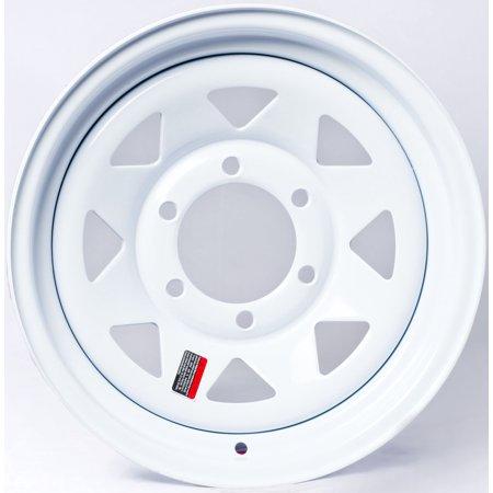 2-Pack Trailer Rim Wheel 16X6 6-5.5 White Spoke 3760 Lb. 4.25CB