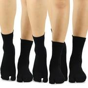 TeeHee Flip Flop Big Toe Cotton Socks 3-Pairs Pack (Spider Web)