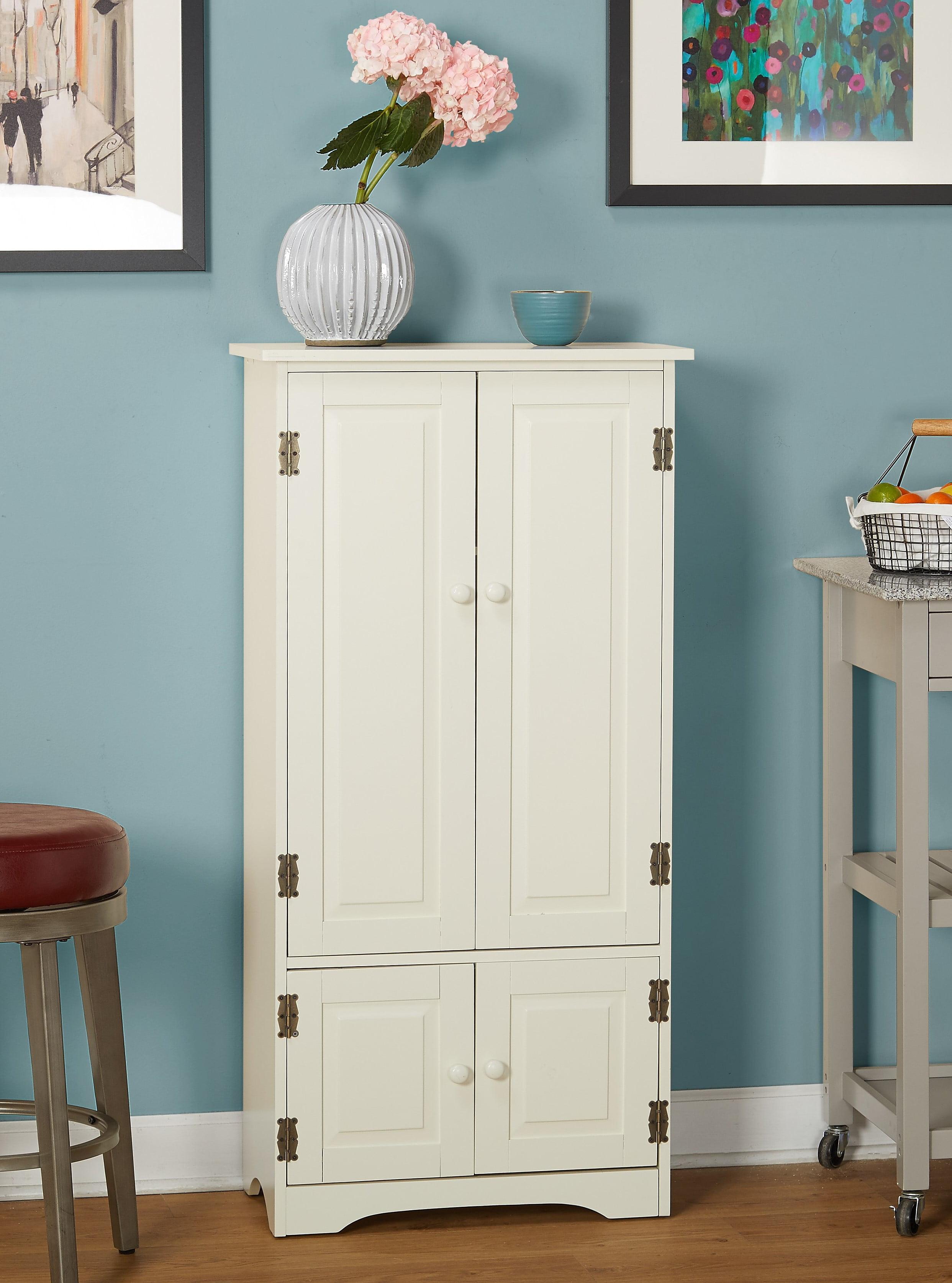 Versatile Wood 4-Door Floor Cabinet, Multiple Colors - Walmart.com