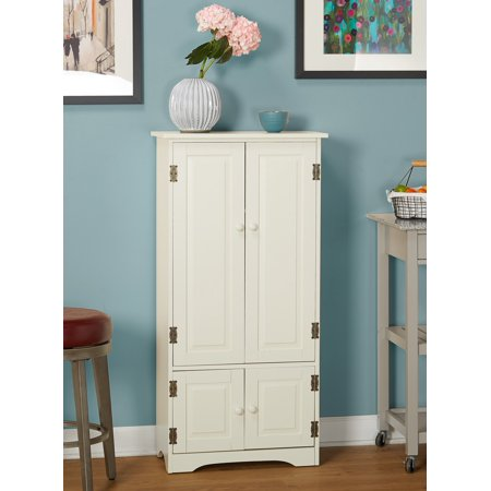Versatile Wood 4-Door Floor Cabinet, Multiple Colors