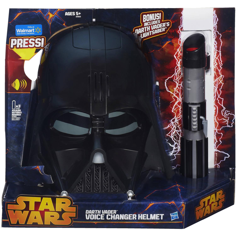 Star Wars Darth Vader Voice Changer Helmet with Bonus Darth Vader's Lightsaber