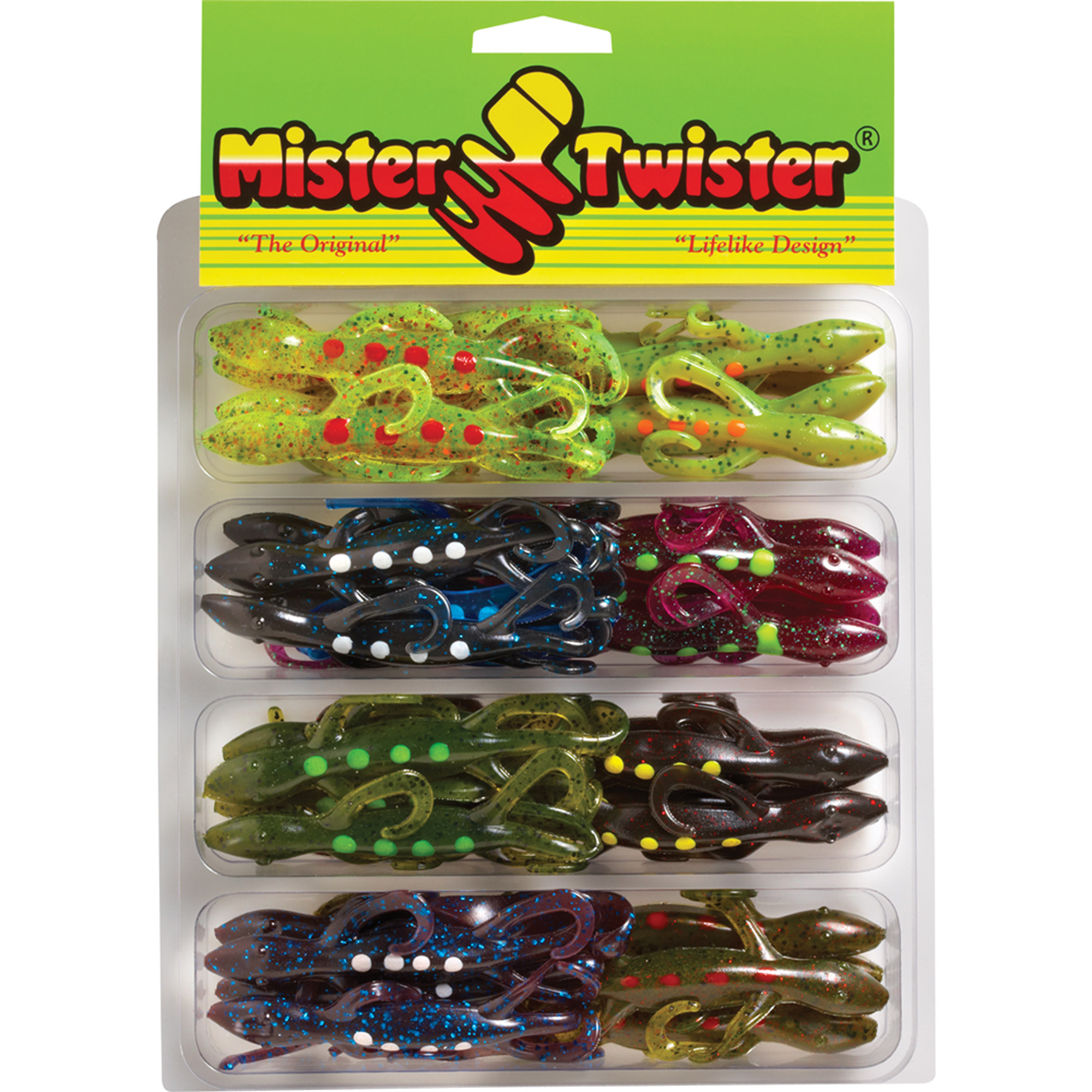 "Mister Twister 6"" Spotted Super Lizard Kit, 32pk, Assorted"