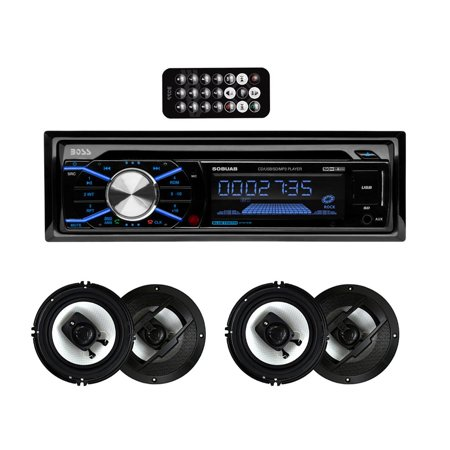 Dash Speaker Cover - Boss 508UAB In Dash Bluetooth CD Player Receiver with R63 6.5