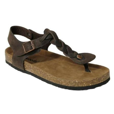 42fd7df41e67 Outwoods - Outwoods Women s Bork 54 Braid Thong Buckle Sandal (Brown Size  9) - Walmart.com