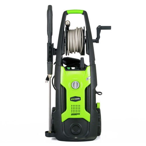 Greenworks 13Ah 2000 PSI 1 2 GPM Electric Pressure Washer with Hose Reel  GPW2002
