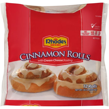 Rhodes Bake N Serv Cinnamon Rolls With Cream Cheese Frosting 12 Ct