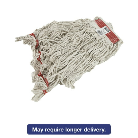 Rubbermaid Commercial Swinger Loop Wet Mop Heads, Cotton/Synthetic, White, Large,