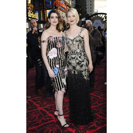 Mia Wasikowska Anne Hathaway At Arrivals For Alice Through The Looking Glass Premiere El Capitan Theatre Los Angeles Ca May 23 2016 Photo By Elizabeth GoodenoughEverett Collection (Anne Hathaway With Glasses)