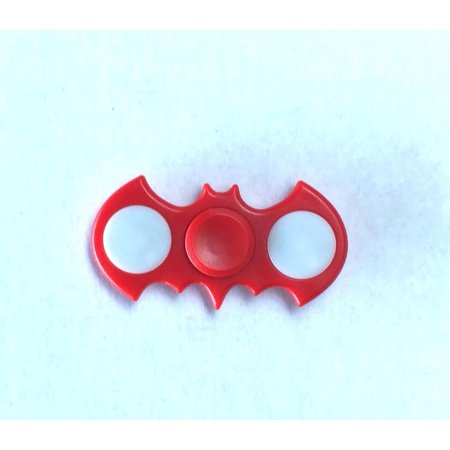 Tri Hand Spinner Fidget Spinners Red Bat Spinner Led 3 Light Patterns Limited Design Toy Stress Reducer Ball Bearing - May help with ADD, ADHD, Anxiety, and Autism Adult Children