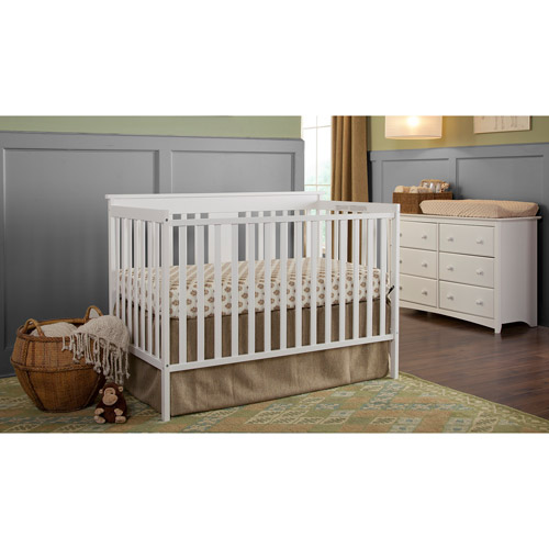 Storkcraft Mission Ridge 3-in-1 Convertible Crib, White