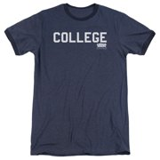 Animal House College Mens Adult Heather Ringer Shirt