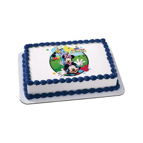 Mickey Mouse Quarter Sheet Edible Cake Topper Each Party