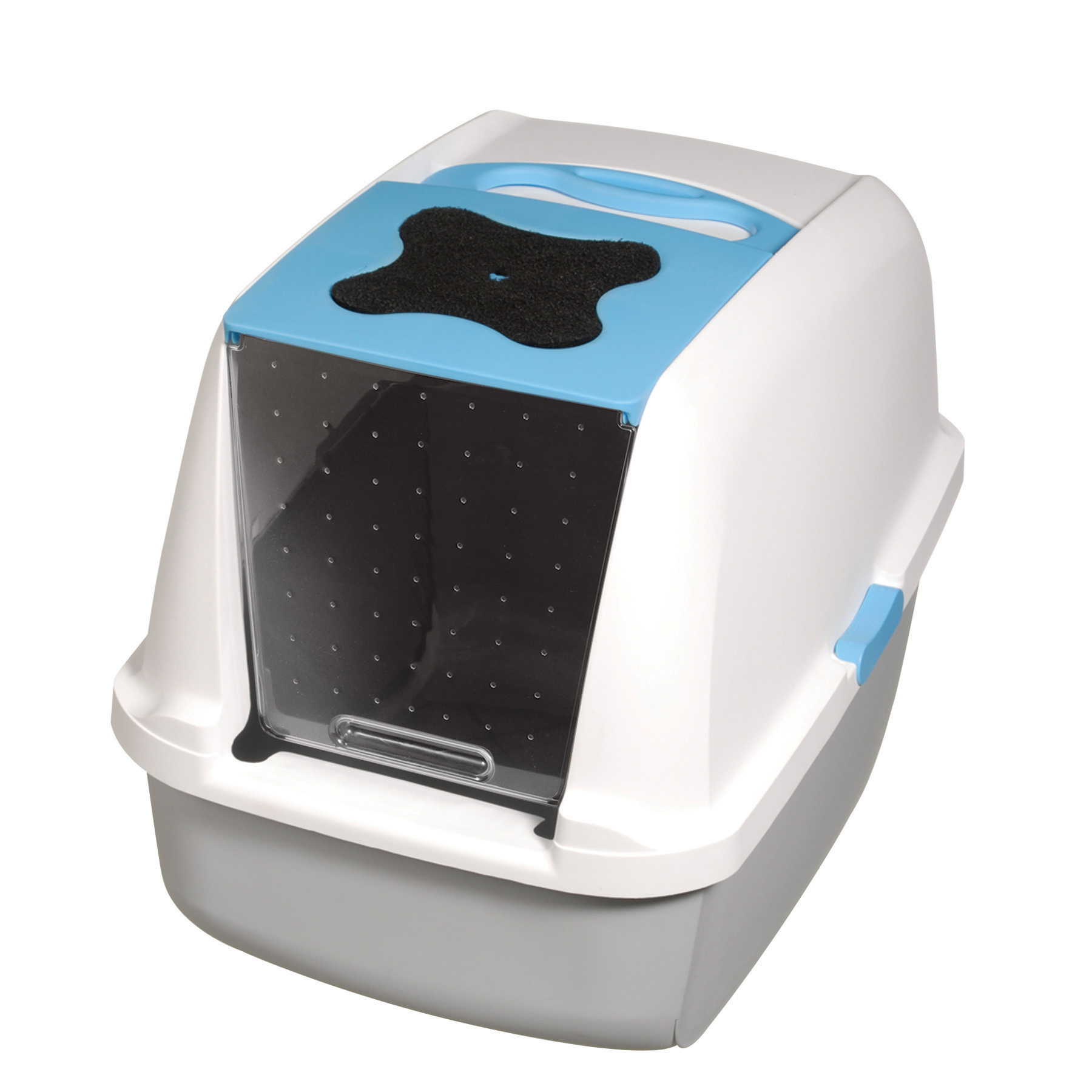 Catit, Covered Cat Litter Box, Blue