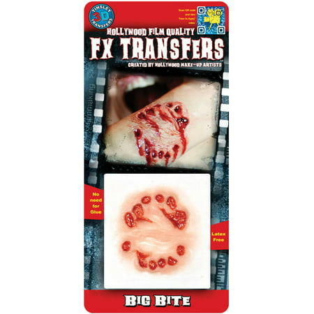 3D FX Small Big Bite Adult Halloween Accessory (Fx Contact Lenses Halloween)
