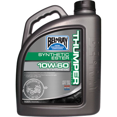 Bel-Ray Thumper Racing Full Synthetic 4-Stroke Motor Oil 10W-60 4 Liter