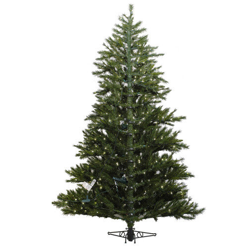 Vickerman Minnesota Pine Westbrook 6.5' Green Artificial Half Christmas Tree with 400 Clear Lights with Stand