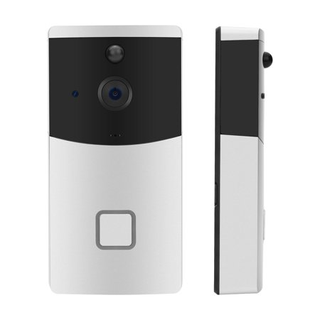 Wi-Fi Enabled Wireless Video Doorbell with HD 720P Camera Image, Night  Vision, Motion Detetion for IOS/Android Smartphone APP Control (Two