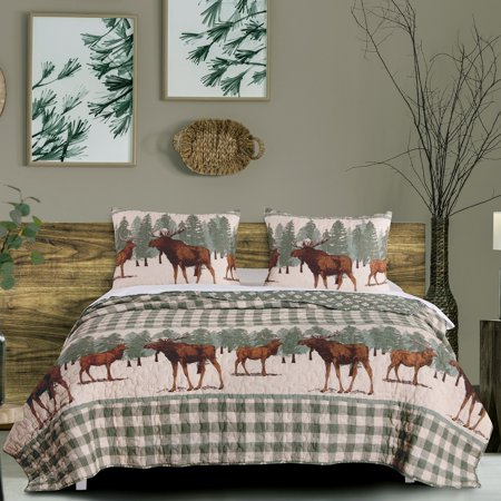 Global Trends Elk Grove Reversible Quilt Set - Party City Elk Grove