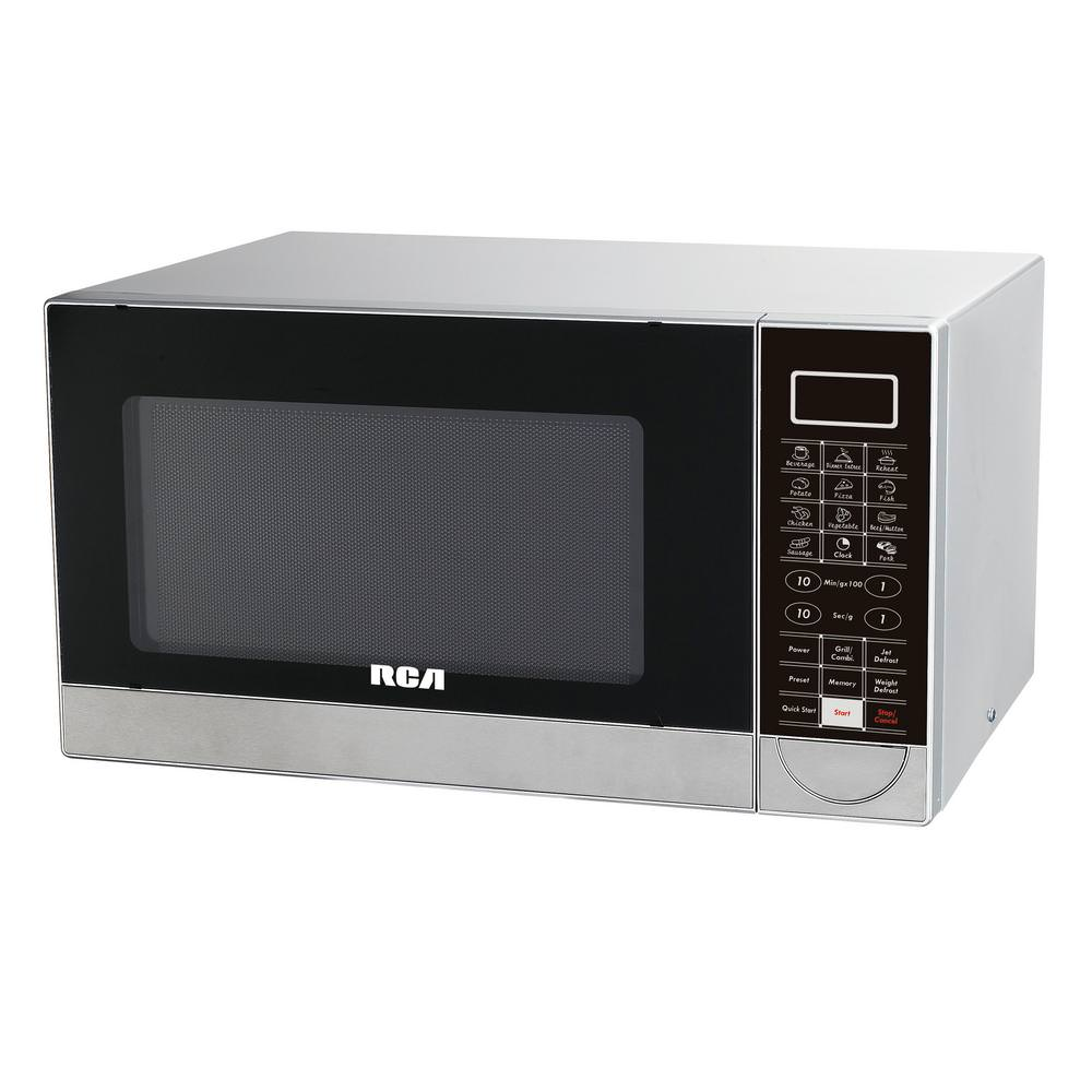 RCA 1.1 CU FT STAINLESS STEEL DESIGN MICROWAVE WITH GRILL FEATURE