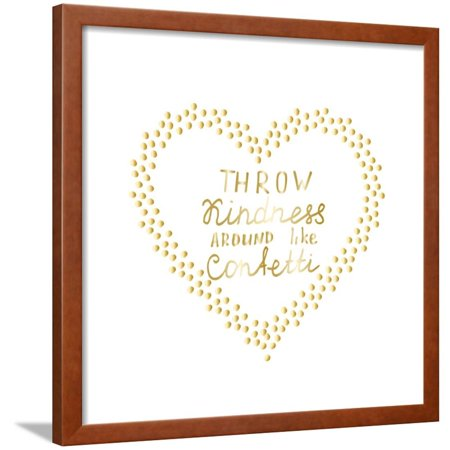 Motivational Words Gold Confetti Heart Shape Frame Hand Drawn Gold ...