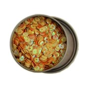 Buttons Galore LL Sequin Yellow & Orange Tin