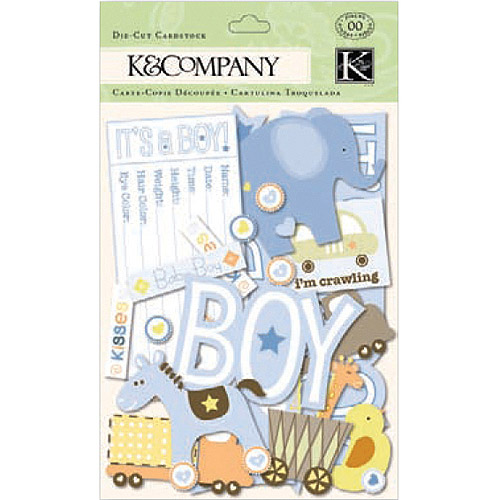K & Company Cardstock Die-Cuts, Itsy Bitsy Baby Boy