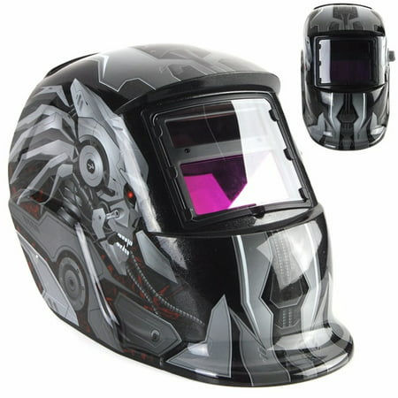 Welding Helmet, GLIME/ AUDEW Solar Powered Welding Helmet Auto Darkening Hood with Adjustable Shade Range 4/9-13 for MIG TIG ARC Professional Welder