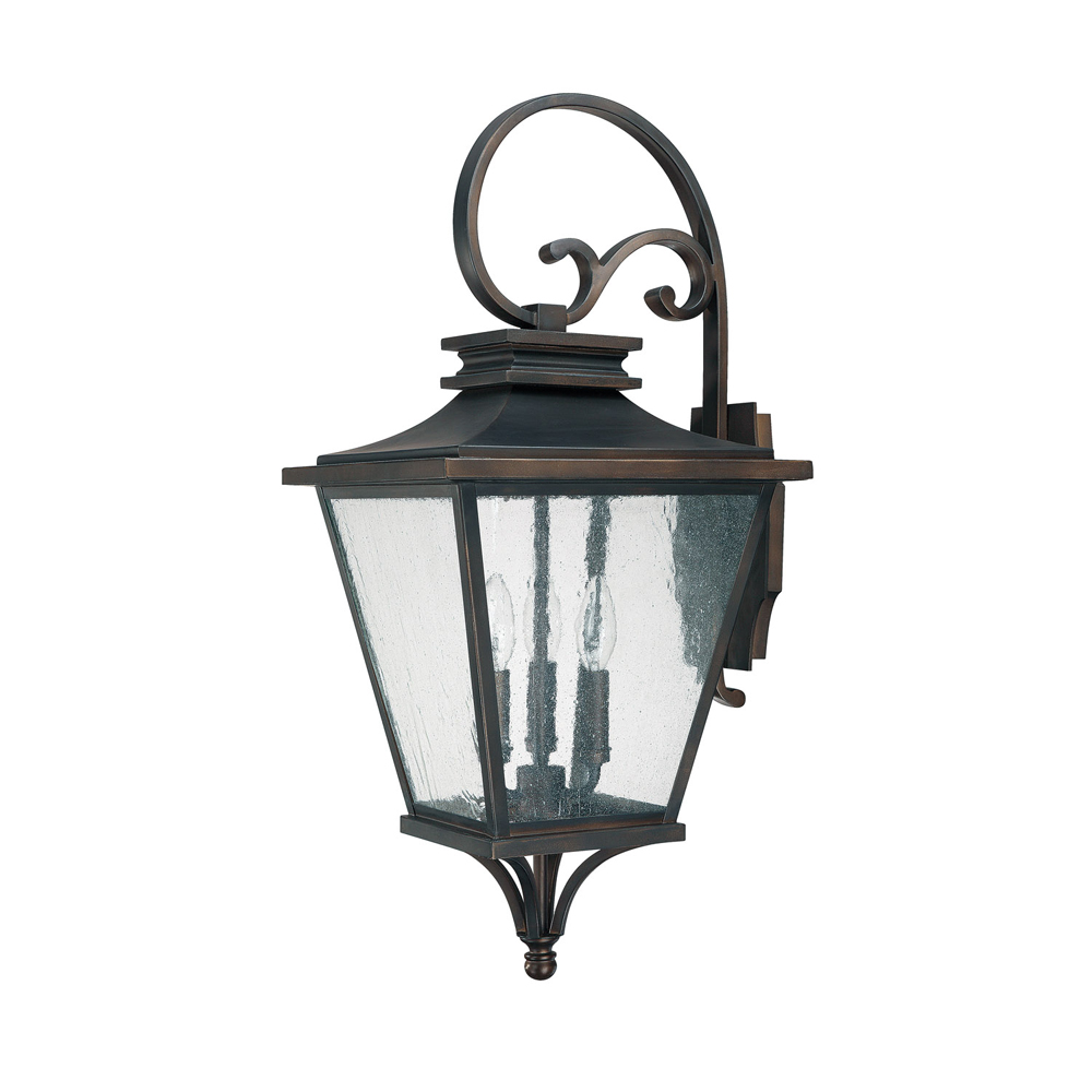 Capital Lighting Gentry  Old Bronze 3 Light Outdoor Wall Lantern