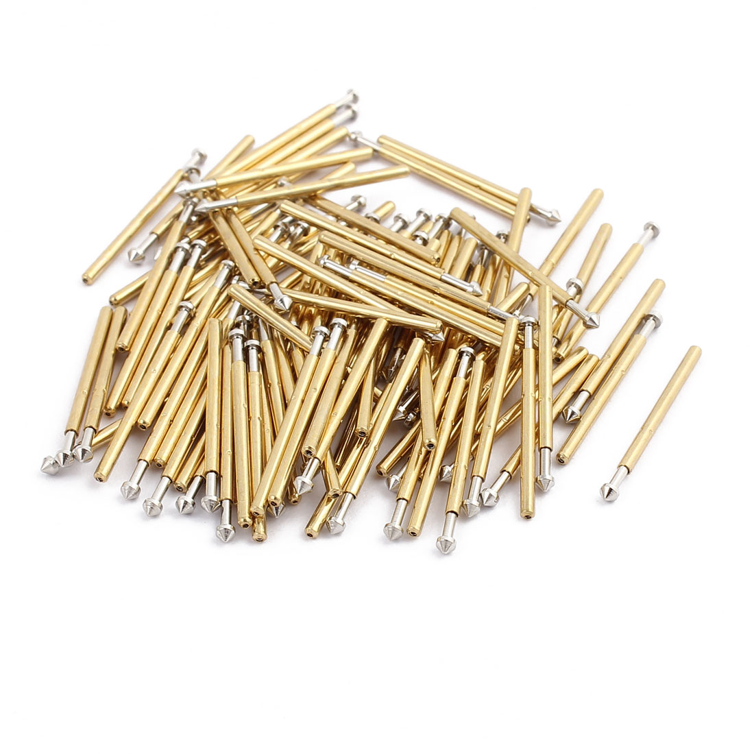 100pcs P160-E3 1.4mm Dia 22.8mm Length Metal Spring Pressure Test Probe Needle
