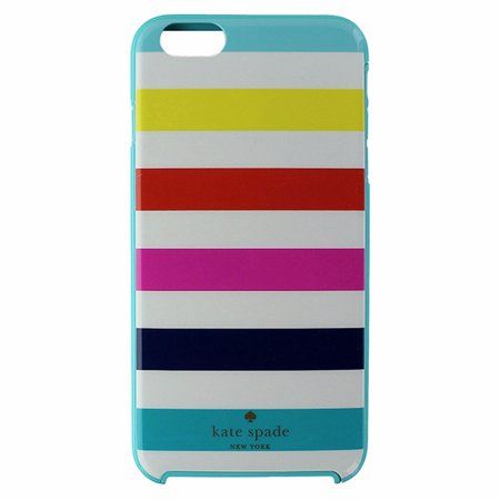 sale retailer c1f47 a6f57 Kate Spade Hybrid Case for iPhone 6 Plus/ 6s Plus - Candy Stripes / Light  Blue