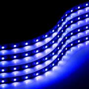 Zone Tech 30cm LED Car Flexible Waterproof Light Strip BLUE pack of 4