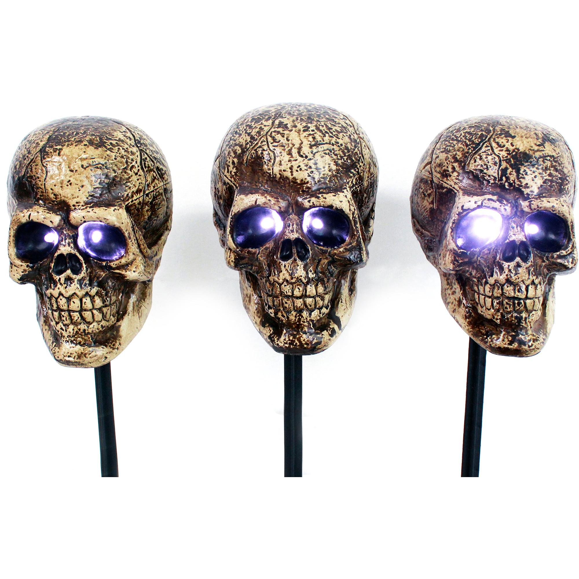 halloween skull markers 3pk halloween decoration walmartcom - Halloween Skull Decorations