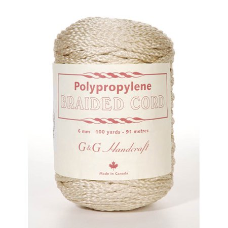 Braided Macrame Cord: 6mm - Pebble - 100 yards