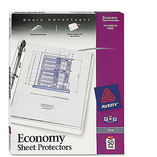 Avery Top-Load Poly Clear Sheet Protectors, Economy Gauge