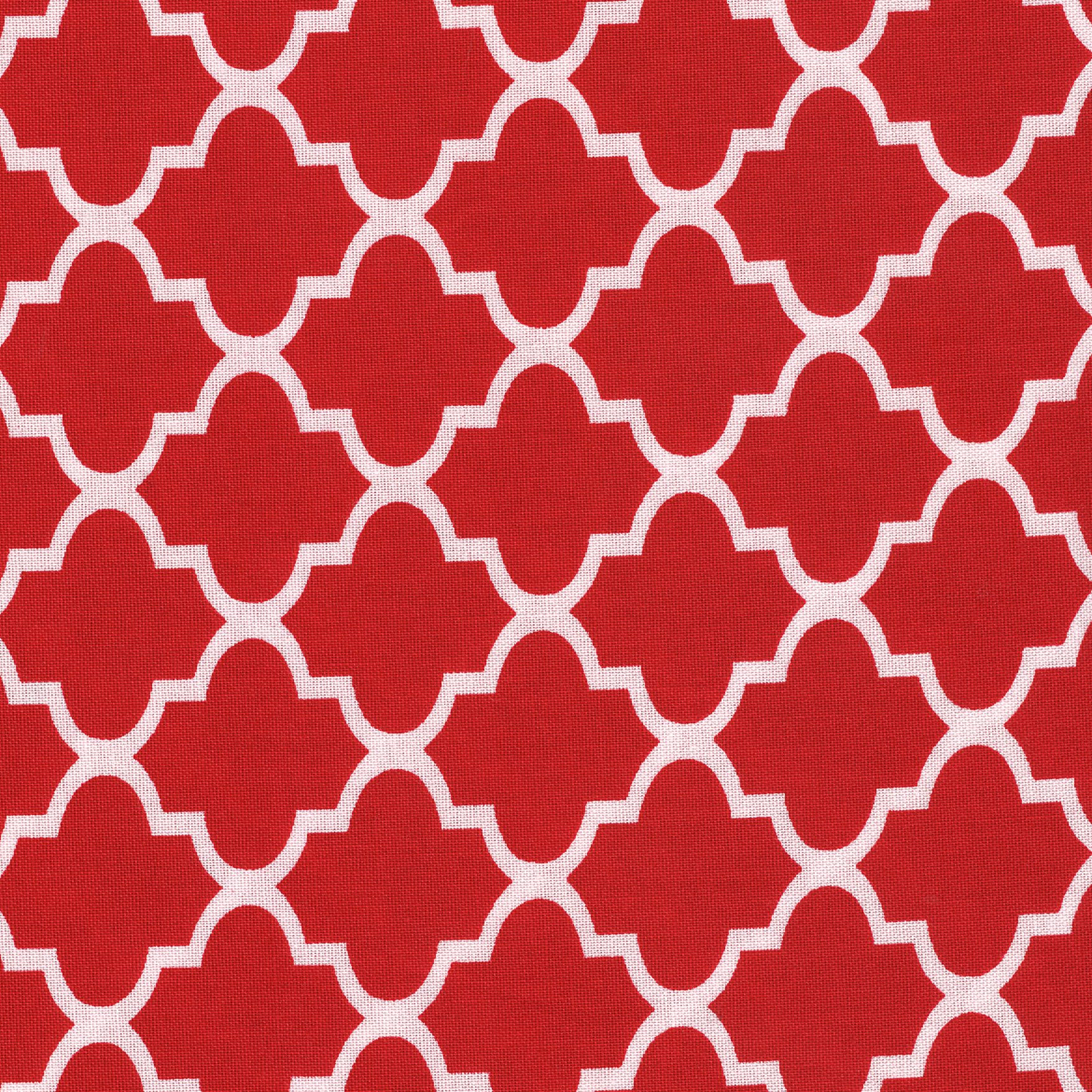 SHASON TEXTILE (3 Yards cut) 100% COTTON PRINT QUILTING FABRIC, RED / WHITE TWIST