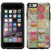SKIN DECAL FOR OtterBox Symmetry Apple iPhone 6 Case - Half Eaten Dounut Pattern on Plaid Blanket DECAL, NOT A CASE Vinyl Decal for OtterBox Symmetry Apple iPhone 6 Case Half Eaten Dounut Pattern on Plaid Blanket