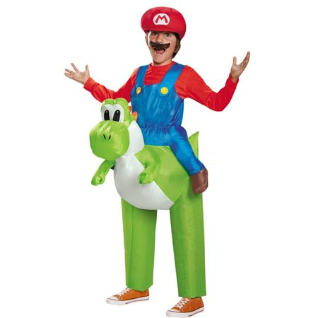 Yoshi Costumes For Kids (Morris Costumes DG85150CH Mario Riding Yoshi Child)