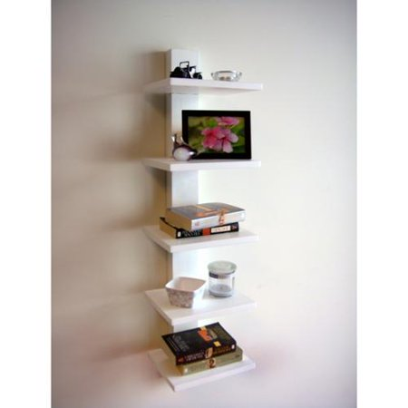 Admirable Proman Spine Wall White Book Shelves Walmart Com Download Free Architecture Designs Rallybritishbridgeorg