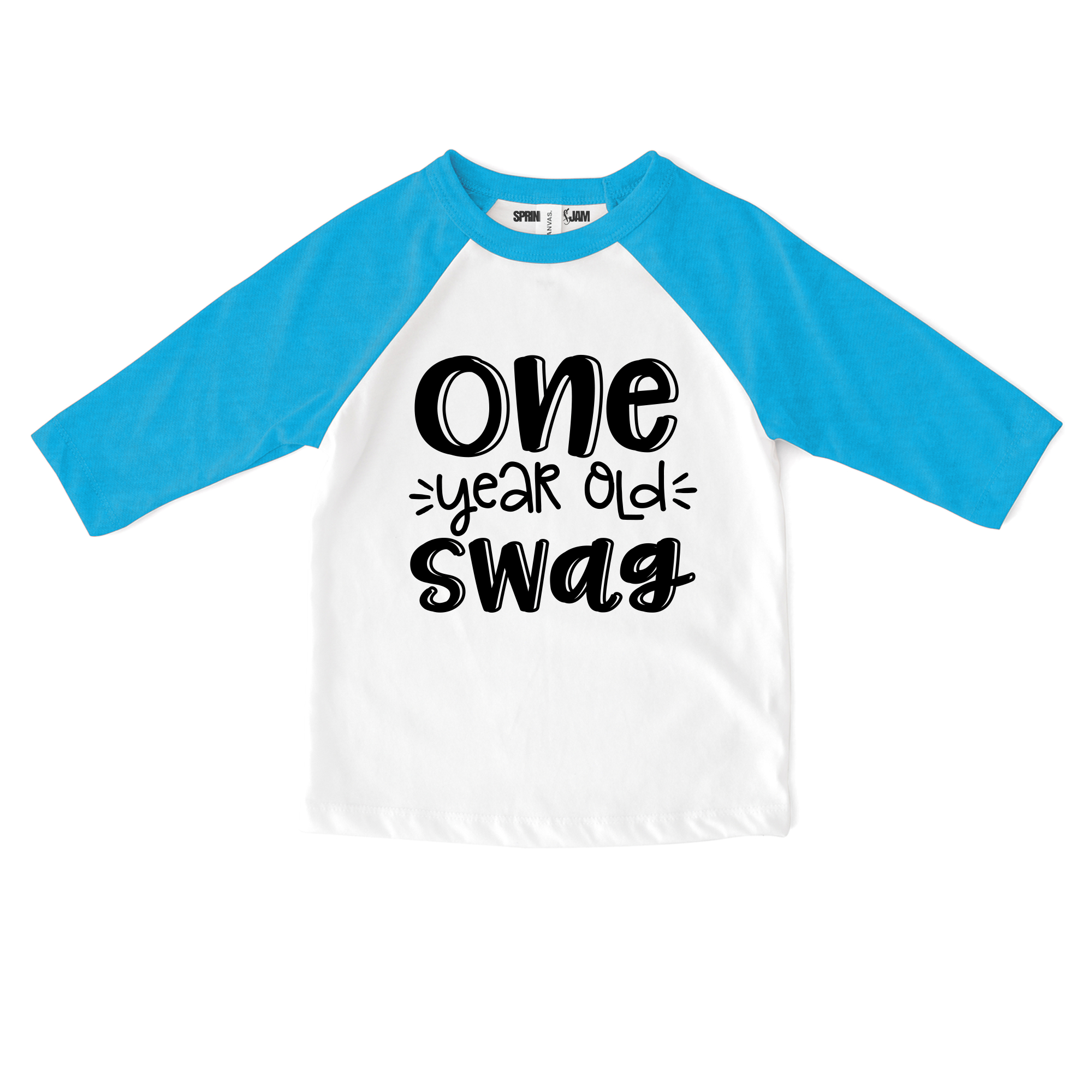"Sprinkles And Jam ""Swag"" 1st Birthday Boy Shirt Raglan Birthday Outfit"