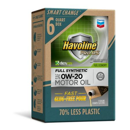 Havoline SMART CHANGE® ProDS 0W-20 Full Synthetic Motor Oil, 6