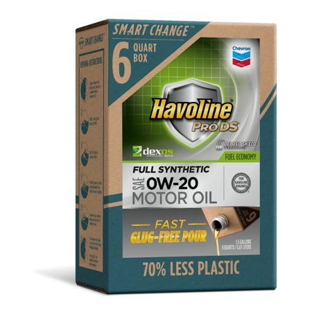 Havoline SMART CHANGE® ProDS 0W-20 Full Synthetic Motor Oil, 6 (Havoline Tc W3 2 Cycle Motor Oil)