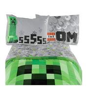"Minecraft Bedding Set Excellent Designed Multicolored Kids Twin Sheet Set 66"" X 96"""